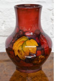 Flambe moorecroft vase