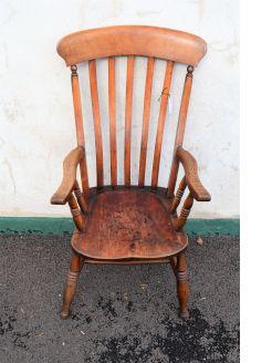 Victorian oak & elm armchair