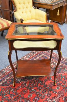 Mahogany display table