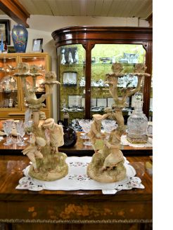 Pair of royal worcester candelabra
