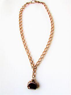 9ct gold albert chain an fob
