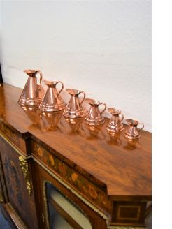 Set of six copper measures