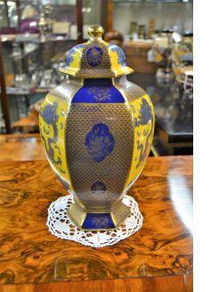 Carlton ware vase & lid