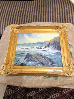 Gilt framed oil on board (local artist)