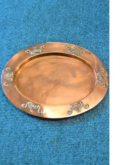 Art nouveau copper dish