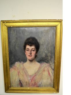 Gilt framed oil portrait