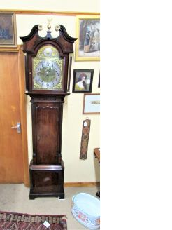 Early 19th century mahogany cased grandfather clock