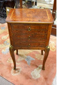 French walnut pedestal chest