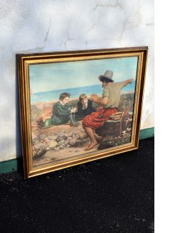 Large gilt framed victorian print