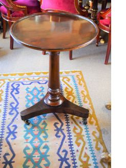 Victorian mahogany occasional table with inlay