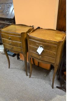 Pair of oak pedestals