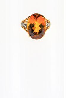 Citrine 9ct gold  dress ring