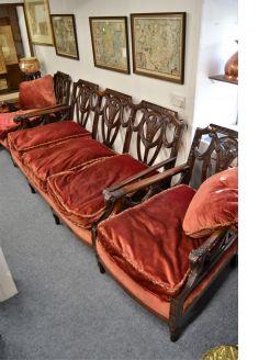 Three piece mahogany suite