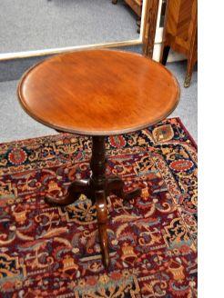 Georgian mahogany tip-top occasional table
