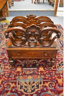19th century mahogany canterbury