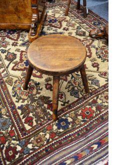 miniature oak antique stool