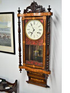 19th century american wall clock