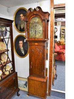 19th century oak cased grandfather clock