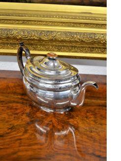 Georgian irish silver tea pot