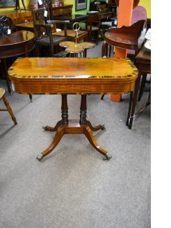 Regency mahogany card table
