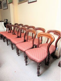 Set of twelve victorian mahogany chairs