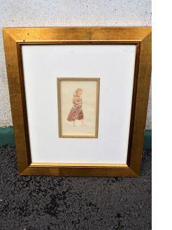 Gilt framed signed watercolour