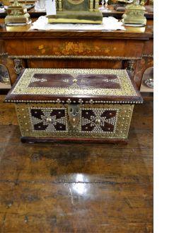 Brass bound hardwood box