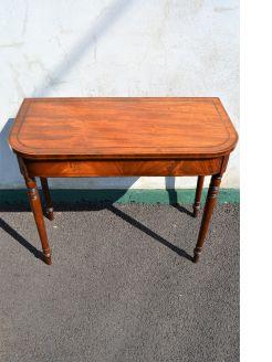 Georgian mahogany card table