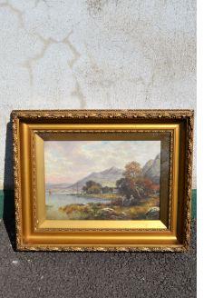 Gilt framed oil painting ,signed