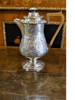 Georgian silver plated water jug/ pot