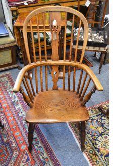 19th century oak windsor chair