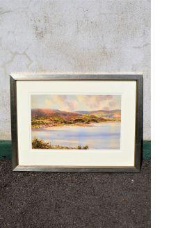 Framed watercolour by sam mclarnon