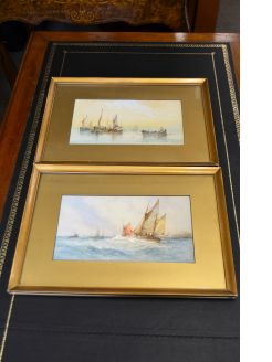 Pair of gilt framed 19th century watercolours
