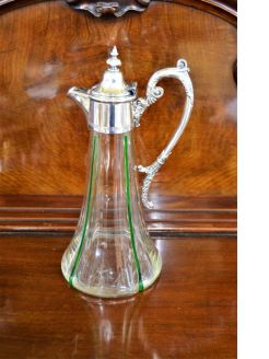 Plated top claret jug