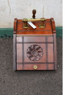 Edwardian mahogany coal scuttle