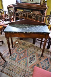 Victorian marble top mahogany  side table
