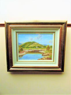 Gilt framed oil painting by irish artist sam mclarnon