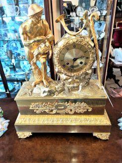 19th century gilt bronze mantle clock
