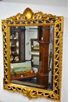 1920s gilt framed mirror