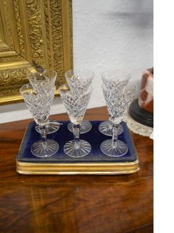 Set of six waterford crystal glasses