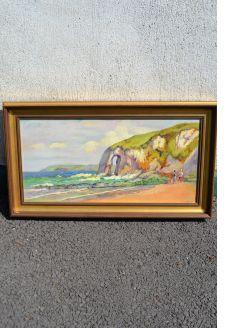 Gilt framed oil on canvas