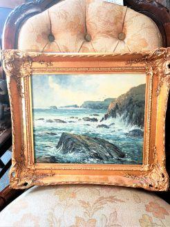 Gilt framed oil on board (local artist)