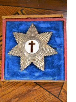 Silver 19th century masonic medal
