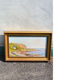 Gilt framed oil painting