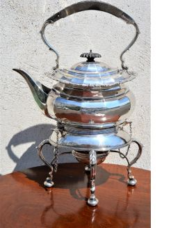 Silver kettle & stand
