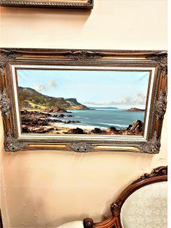 Gilt framed oil painting by sam Mclaron