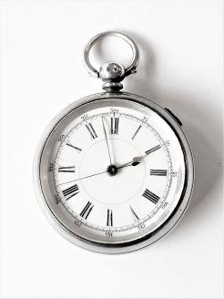 Silver cased pocket watch