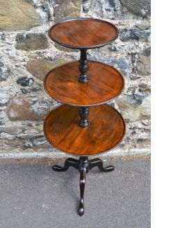 Victorian three tier mahogany wot-not