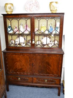 Mahogany two door cabinet