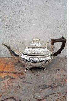 Irish silver tea pot